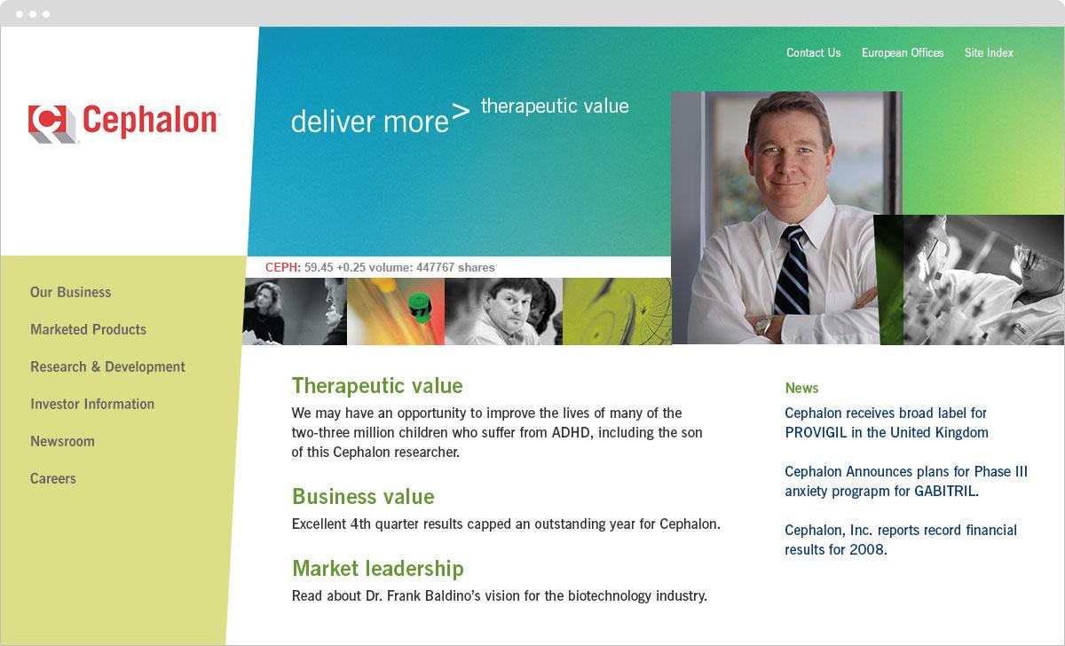 Cephalon website home page