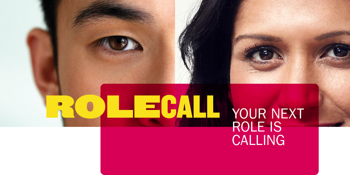Close-up faces. RoleCall: Your next role is calling